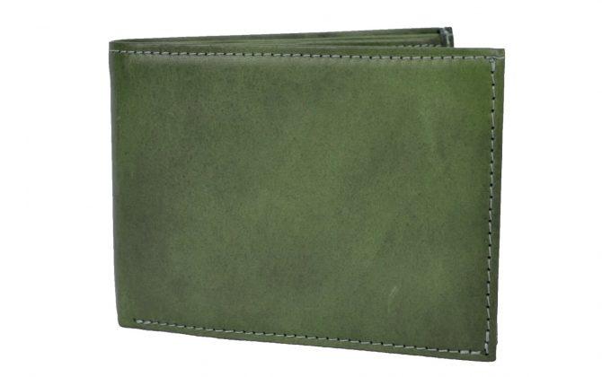 Luxusná elegantná peňaženka z pravej kože č.8552 v zelenej farbe (1)