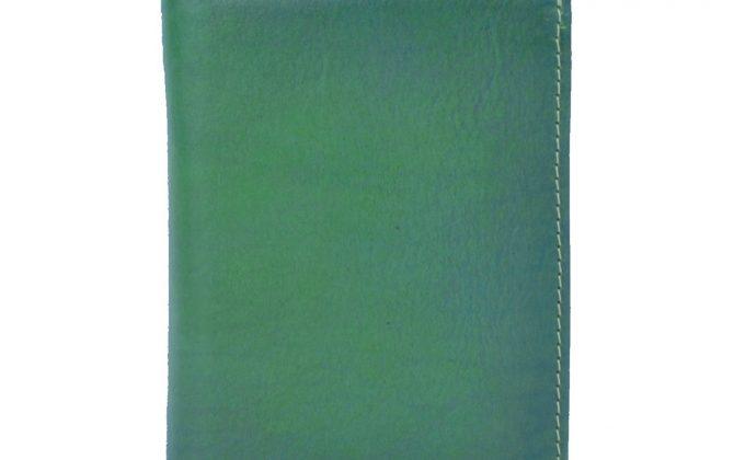 Luxusná kožená peňaženka č.8560 v tmavo zelenej farbe (1)