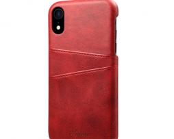 Červený kožený kryt na iPhone XS 328b0d556fb