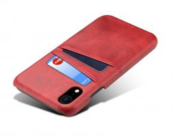 ... Červený kožený kryt na iPhone XS a21762a4252