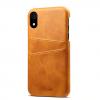 Žltý kožený kryt na iPhone XS, iPhone XR a iPhone XS MAX