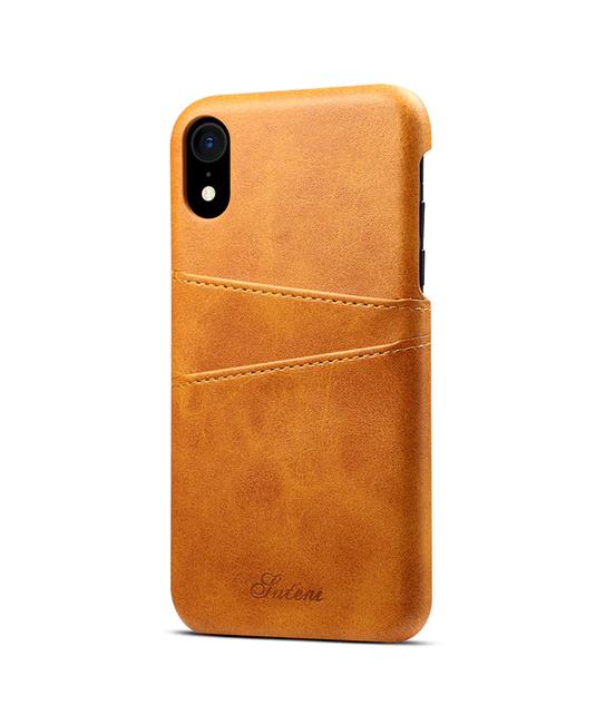 Žltý kožený kryt na iPhone XS 99db30daca4