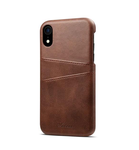 Hnedý kožený kryt na iPhone XS, iPhone XR a iPhone XS MAX