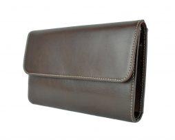 Luxusná kožená dámska peňaženka č.8465 v tmavo hnedej farbe 4a9dc05c242