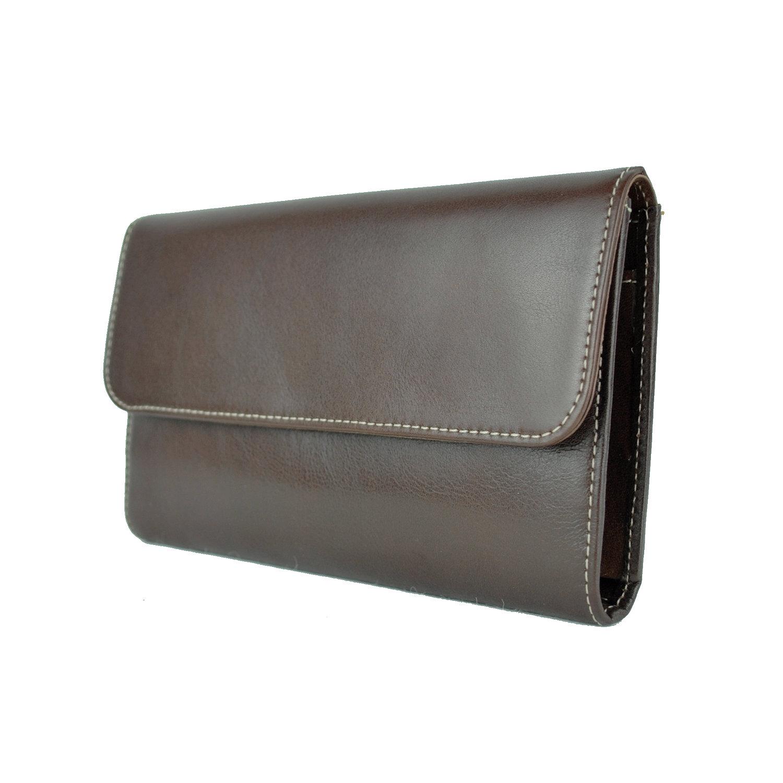 Luxusná kožená dámska peňaženka č.8465 v tmavo hnedej farbe ... c0ce2294713