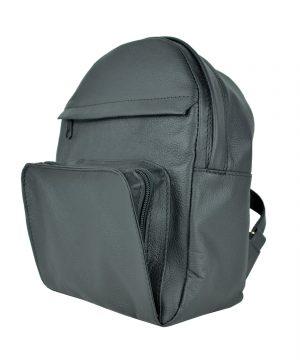 Kožený batoh z prírodnej kože, čierna farba (3)