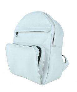 Kožený batoh z prírodnej kože, perlová farba (3)
