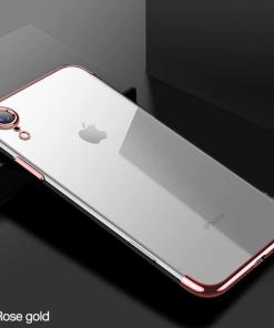 Ružovo-zlatý tenký obal na iPhone XS, iPhone XR a iPhone XS MAX
