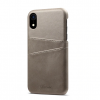 Sivý kožený kryt na iPhone XS, iPhone XR a iPhone XS MAX