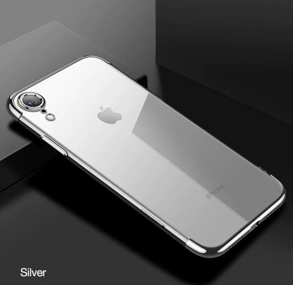 Strieborný tenký obal na iPhone XS, iPhone XR a iPhone XS MAX