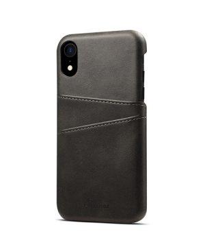 Tmavo sivý kožený kryt na iPhone XS, iPhone XR a iPhone XS MAX