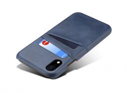 Modrý kožený kryt na iPhone XS, iPhone XR a iPhone XS MAX