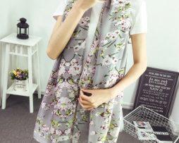 ... Dámsky hodvábny šál s prepracovanými kvetinami - sivý 520c2e5bc01