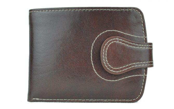 Elegantná kožená peňaženka č.8467 v tmavo hnedej farbe (2)