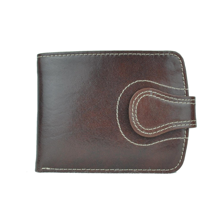 f12c3dd3b7 Luxusná elegantná kožená peňaženka č.8467 v tmavo hnedej farbe ...