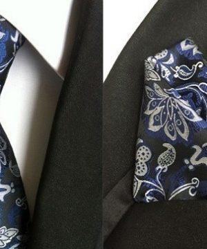 Hodvábna kravata a hodvábna vreckovka - spoločenský set _ model C