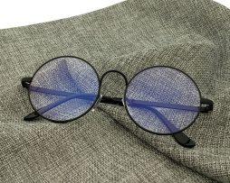 Kvalitné retro okuliare na prácu s počítačom s čiernym rámikom ... 0a37bbce8d5