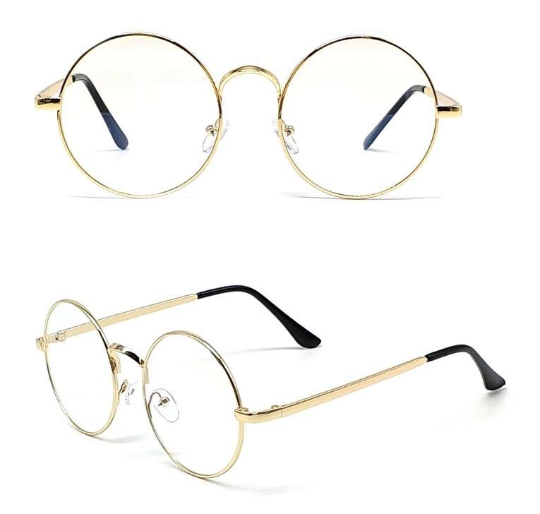 67067ee94 Kvalitné retro okuliare na prácu s počítačom so zlatým rámikom ...
