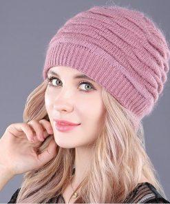 Dámska zimná čiapka z bavlny vo viacerých farbách