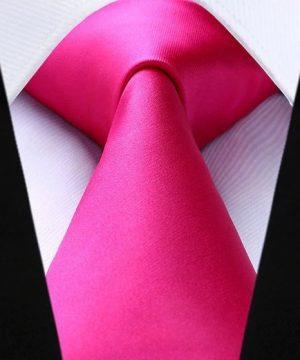 Luxusná kravatová sada - kravata a vreckovka v ružovej farbe
