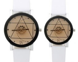 Moderné geometrické dámske a pánske hodinky ... 94be50c8057