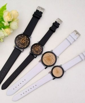Moderné geometrické dámske a pánske hodinky