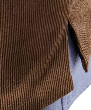 Luxusná pánska vesta ku obleku v tvídovom / menčestrovom prevedení - čierna