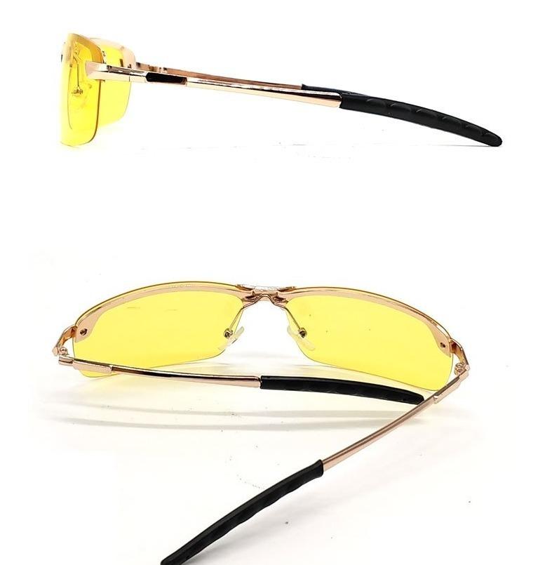 6a0d4af7a Luxusné zlaté polarizované okuliare pre šoférov do nepriaznivého počasia