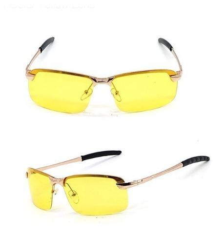 Luxusné zlaté polarizované okuliare pre šoférov do nepriaznivého počasia