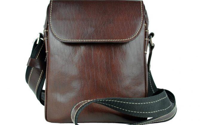 Luxusná kožená etuja z lesklej hovädzej kože č.8365 v hnedej farbe (5)