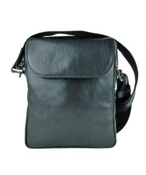 Luxusná kožená etuja z lesklej hovädzej kože č.8365 v čiernej farbe
