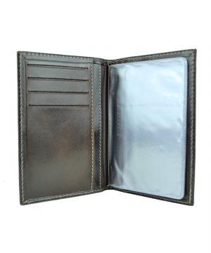 Luxusné kožené puzdro pre doklady v lesklej hnedej farbe (5)