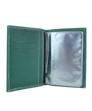 Luxusné kožené puzdro pre doklady v zelenej farbe (1)