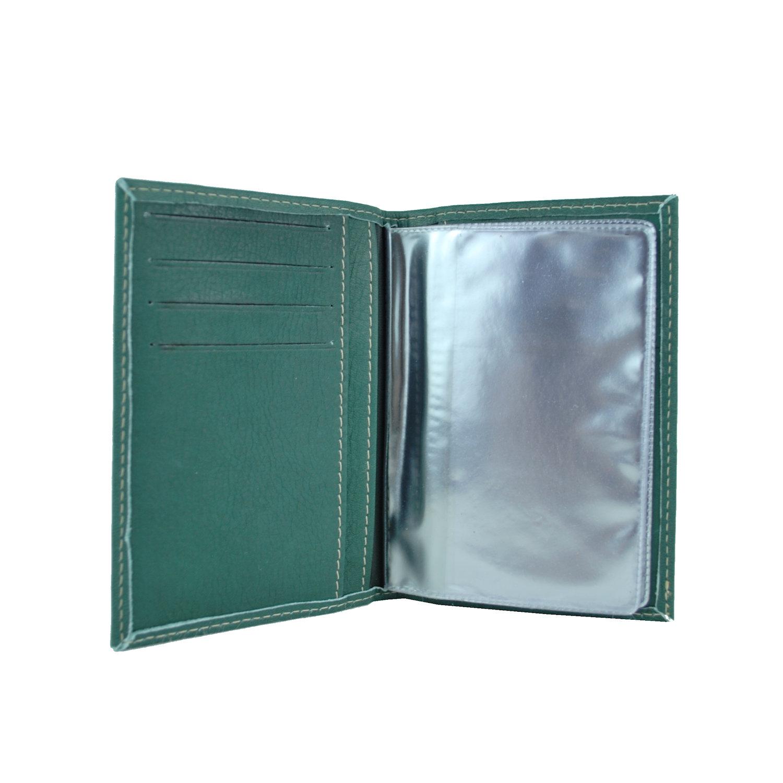 Luxusné kožené puzdro pre doklady v zelenej farbe (1) b9af1d1c66d