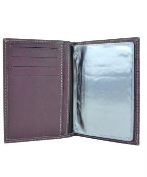 Luxusné kožené puzdro pre doklady vo fialovej farbe (3)