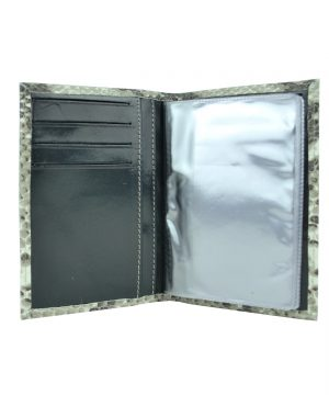 Luxusné kožené puzdro pre doklady, vzor hadej kože (3)