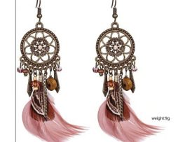 Luxusné náušnice s farebnými pierkami - indiana