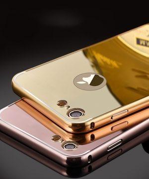 Luxusný zlatý zrkadlový obal na iPhone 8 a iPhone 8 Plus