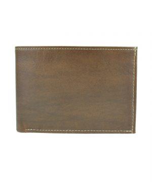 Pánska kožená peňaženka č.8552, melírový efekt mahagónového dreva (9)