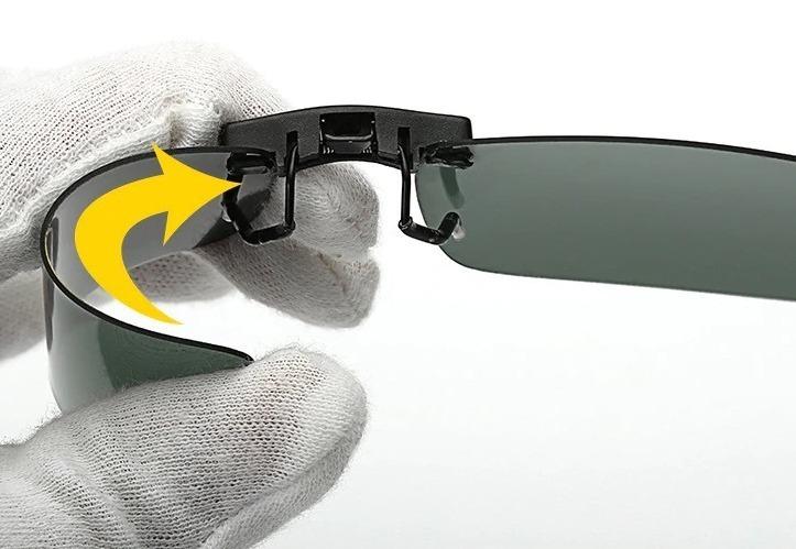 Tieňovaný polarizovaný clip na okuliare na nočnú jazdu i šport ... 7862dcad09d