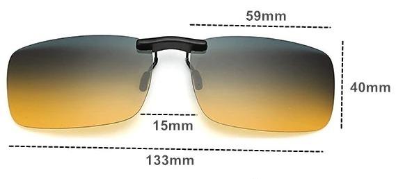 Tieňovaný polarizovaný clip na okuliare na nočnú jazdu i šport