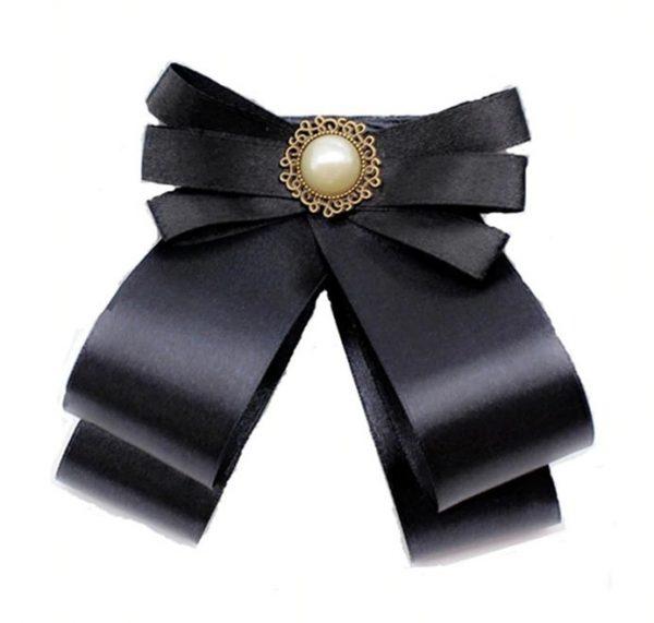 Elegantná brošňa na šaty v tvare mašle s ozdobou v rôznych farbách