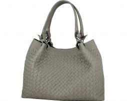 4fa4ec0dc1fa Luxusná ručne pletená kabelka z hovädzej usne v talianskom štýle v béžovej  farbe
