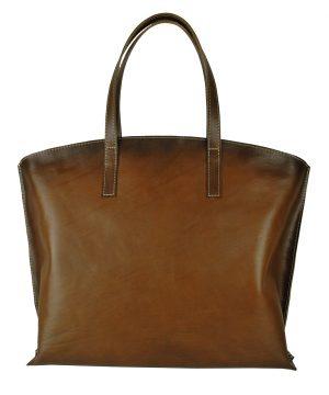 Luxusná kožená kabelka veľká na plece SHOPPER BAG, ručne farbená