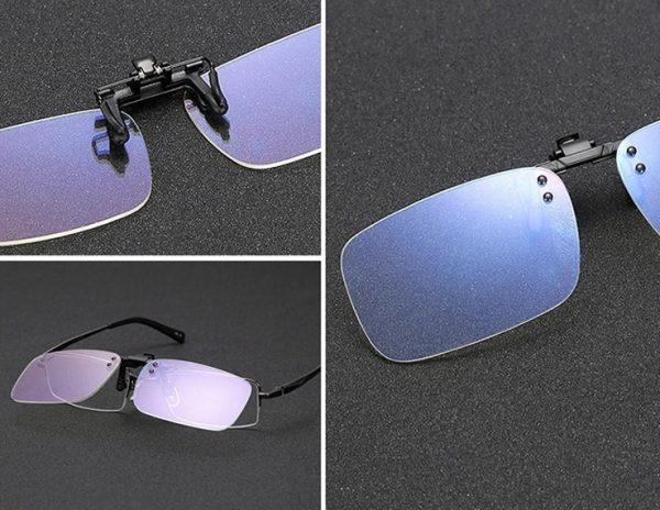 Kvalitný klip na okuliare s ochranným filtrom proti žiareniu monitora