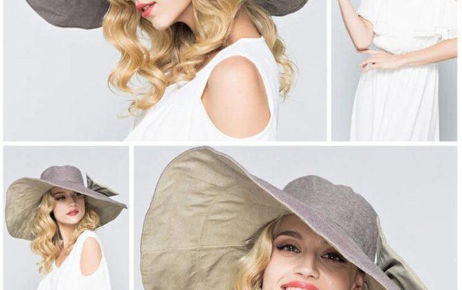 Elegantný dámsky klobúk na leto vo viacerých farbách