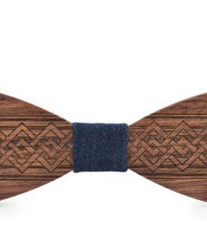 Hand-made drevený motýlik s ľudovým vzorom vo viac farbách