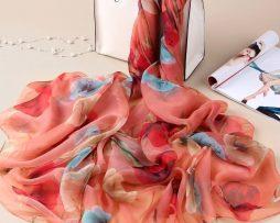 Luxusná veľká šatka z umelého hodvábu 180 x 140 cm _ model 06