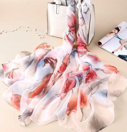 Luxusná veľká šatka z umelého hodvábu 180 x 140 cm _ model 07