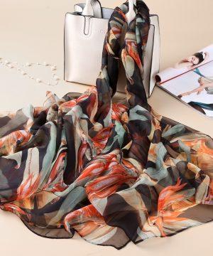 Luxusná veľká šatka z umelého hodvábu 180 x 140 cm _ model 12